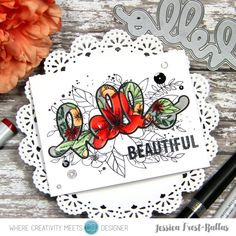 Hello Beautiful by Jessica Frost-Ballas for Where Creativity Meets C9 Challenge