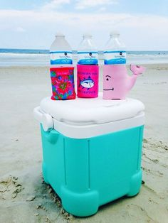 preppy koozies | 23 Summer Beach Essentials for Teens Bags that everyone should have! width=