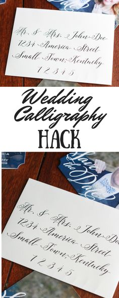 Do you want the look of beautifully addressed envelopes without the hefty price tag? Check out this easy DIY Wedding Calligraphy tutorial.