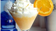 Orange Creamsicle Martini - This was amazing!!  I made some changes to the original recipe based on personal preference. 4 oz. OJ; 2 oz. milk or cream (I used skim); 2 oz. whipped crème vodka; 1 oz. Godiva white chocolate liqueur; 1/2 ts. Tang (can also use 1 ts. vanilla pudding mix instead); Combine in shaker with ice, strain and serve in a martini glass topped with whipped cream if desired.