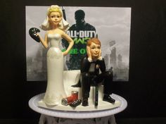 VIDEO GAME GOT THE Controller FUNNY WEDDING CAKE TOPPER MW3 2 • £52.91