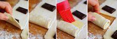 Enrollados de chocolate con tan solo 3 ingredientes