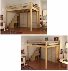 Double bed / loft / contemporary - LETTO A SOPPALCO YEN - Cinius