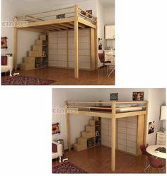 Double bed / loft / contemporary - LETTO A SOPPALCO YEN - Cinius