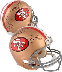b94e06045d0 Joe Montana  amp  Dwight Clark SF 49ers Signed Riddell Pro Helmet w   Multiple Inscs