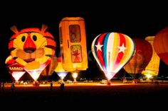 Hot Air Balloons @ night