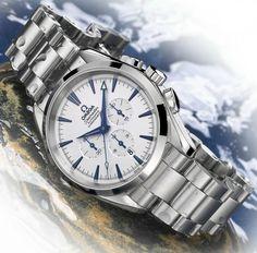 TimeZone : Basel/SIHH 2004 » N E W M o d e l s – Omega Seamaster Aqua Terra Chronographs