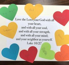 We talked about story of The Good Samaritan, the greatest commandment, and who… Sunday School Crafts For Kids, Bible School Crafts, Preschool Bible, Bible Activities, Sunday School Lessons, Sunday Activities, Bible Lessons For Kids, Bible For Kids, Good Samaritan Craft