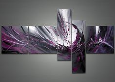 handpainted 5 piece modern abstract oil painting by GlobalArtwork