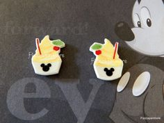 Pineapple Whip Inspired Mickey/Mouse Ears Post Earrings on Etsy, $5.92