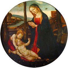 OVNIS en el arte: La Virgen con el Niño y San Juan - Filippo Lippi