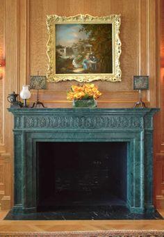 The Verde Antique Italian Marble Fireplace Mantel | 1/2 | DMS Studios Ltd.