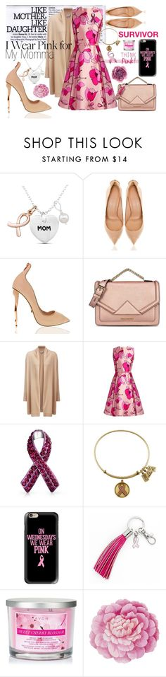"""Momma<3"" by enu-india ❤ liked on Polyvore featuring Karl Lagerfeld, Pure Collection, Oscar de la Renta, Bling Jewelry, Casetify, Avon, Ballard Designs, Gucci, breastcancer and fightlikeagirl"