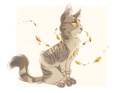 -Art credit- finchwing- Iceheart is a cream she-cat with gray-brown patches and greenish-yellow eyes. She's rather shy and keeps to herself, but is excellent at fighting.