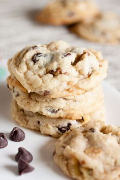Triple Chocolate Chip Cookies with Walnuts – moist and chewy, and every bite is just a little bit different.