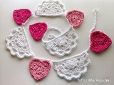 5 Little Monsters: Crochet Doily Bunting