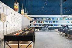 Science library-café, Chişinău, Moldova Program: library and café Design: Anna Wigandt Completion: 2014
