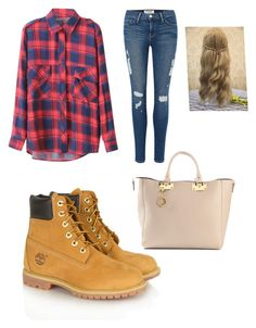 1st day of school by softballgirl42 on Polyvore featuring polyvore, mode, style, Chicnova Fashion, Frame Denim, Timberland and Sophie Hulme