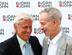 Bjorn Borg & John McEnroe - I love these guys...Mac is the absolute best tennis commentator and Borg is of course gorgeous, more so.