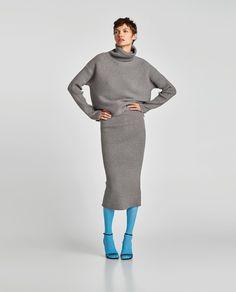 画像 1 の リブ編みスカート ザラから