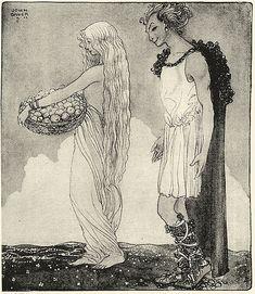 Iðunn og Loki, John Bauer