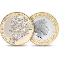 The Charles Dickens coin by Matt Dent uses typography to create an illustration of the subject.