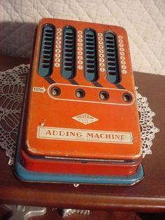 Wolverine Adding Machine Vintage 1940's