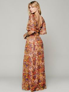 Free People Piped Flutter Sleeve Dress, $168.00