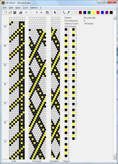 6 round bead crochet - Узоры для вязаных жгутиков-шнуриков 3 | biser.info - всё о бисере и бисерном творчестве