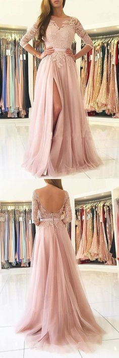 Simple Prom Dresses New Prom Gown Vintage Prom Gowns Elegant Evening Dress Cheap Evening Gowns Party Gowns Modest Prom Dress Prom Dresses Long Pink, Simple Prom Dress, Prom Dresses With Sleeves, A Line Prom Dresses, Tulle Prom Dress, Formal Dresses For Women, Cheap Prom Dresses, Prom Party Dresses, Dresses For Teens