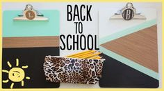 Easy back-to-school DIY. Maybe I'll do this with the kiddos next week... They would love it.