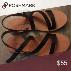 NIB Lucky Brand Leather Sandals 5.5 NIB Lucky Brand Leather Sandals 5.5. Super cute just not my size Lucky Brand Shoes Sandals