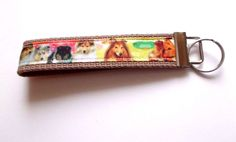 Handmade Collie Collies Puppies Dogs Tan Wristlet Key Chain Hand Lanyard Pets #Unbranded