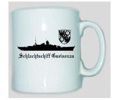 Tasse Schlachtschiff Gneisenau / mehr Infos auf: www.Guntia-Militaria-Shop.de