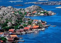 The beautiful Archipelago islands of Gothenburg, Sweden.  No cars allowed provide for wonderful walks and bike rides. http://www.goteborg.com/en/archipelago