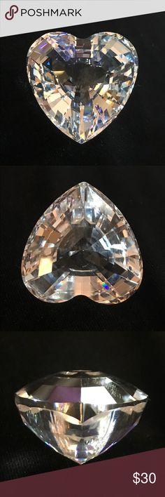 "Swarovski Crystal Paperweight Genuine Retired Swarovski Crystal Heart Shaped Paperweight. This 2"" beautifully crafted piece is in excellent shape. Swarovski Other"