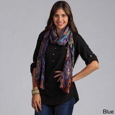 Saro Women's Colorful Scarf   Overstock.com