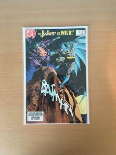 Batman 366 FN Signed by Cover artist Walt Simonson with Certificate Harvey Bullock, Barbara Gordon, Jason Todd, Batman Comics, Cover Art, Certificate, Signs, Artist, Poster