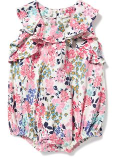 Old Navy Floral Print Baby Girl Romper