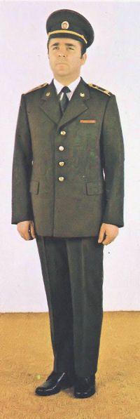 1980 pattern Czechoslovak People's Army (ČSLA) officers' service dress uniform.