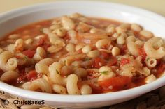 Weisse Bohnen Nudel Suppe