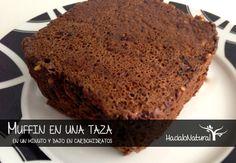 Prueba una receta rápida de muffin en una taza bajo en carbohidratos y sin gluten.