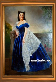 "Scarlett O'Hara/Vivien Leigh: ""Gone With the Wind"" This portrait is gorgeous."