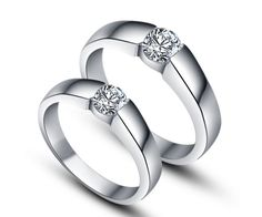 wedding engagement rings modern solitaire