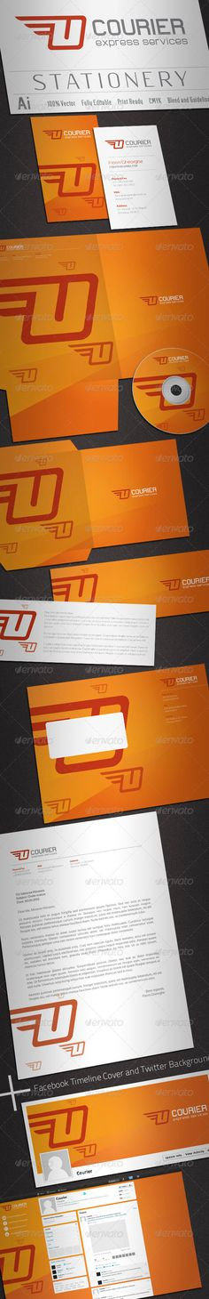 Courier Stationery - #Stationery Print Templates Download here: https://graphicriver.net/item/courier-stationery/2241894?ref=classicdesignp