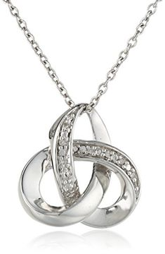 "Sterling Silver Diamond Knot Pendant Necklace , 18"" Amazon Collection http://www.amazon.com/dp/B006A2NU40/ref=cm_sw_r_pi_dp_idpfvb12G4BVX"