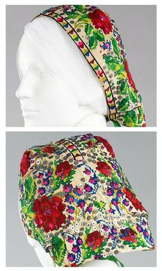 Embroidered headscarf of a Russian peasant woman. Metropolitan Museum of Art Russian Style, Russian Folk, Russian Fashion, Russian Art, Pagan Beliefs, Snow Maiden, Tracy Porter, Costumes Around The World, Viking Life