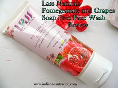 Lass Naturals Pomegranate and Grapes Soap Free Face Wash ReviewHello Girls,Finding a soap free and paraben free skin care product is not an easy task, I use to search paraben free skin care products in google all the time, now after started my own beauty blog I came to know some natural brands provi