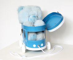 Blue tram by Cotton Candy, Kitchen Appliances, Chair, Box, Furniture, Home Decor, Diy Kitchen Appliances, Recliner, Homemade Home Decor