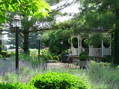 The beautiful gazebo on the grounds of the Kirkwood Inn and Historic Kirkwood House in Mason, OH.